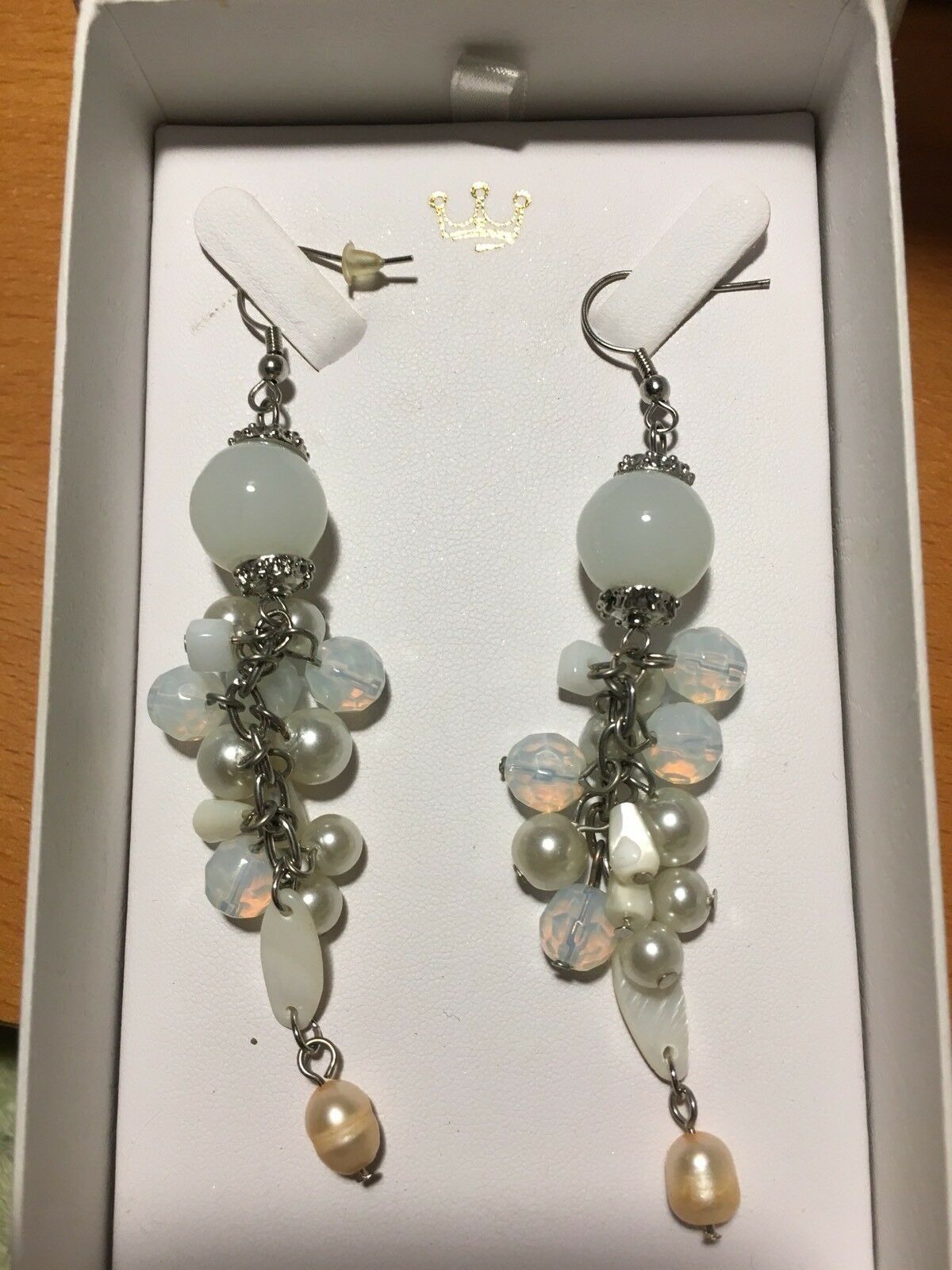 PERLA CANARIA Earrings NWT jewelry exclusive Spain Spain Spain Design  PEARL SNOW 6eb8b8