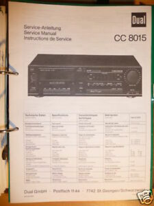 Tv, Video & Audio Service-manual Dual Cc 8015 Tape Deck original!