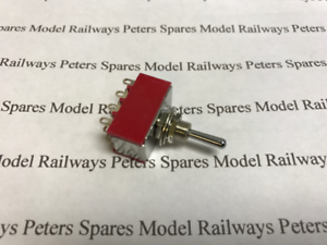 Peters Spares (Peco PL-21) 4 Pole Double Throw Toggle Switch