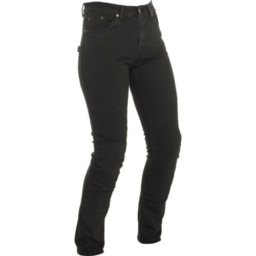 Richa Nora Slim Fit Black Ladies Motorcycle Jeans Motorbike Bike Armour Womens