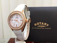 Rotary AQUASPEED Ladies Watch Rose gold White str.Swarovski Crystals RRP£210(R81