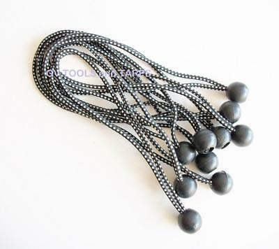 """9/"""" BLACK HEAVY DUTY BALL BUNGEE BUNGEES 50pc lot ** Free Shipping **"""