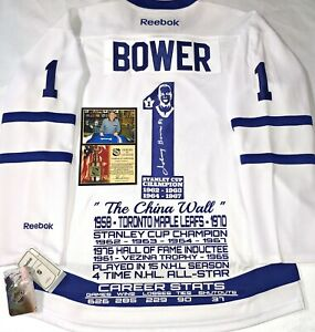 JOHNNY-BOWER-MAPLE-LEAFS-AUTO-SIGNED-NHL-CAREER-STATS-W-TRIBUTE-PATCH-RBK-JERSEY