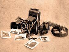 CULTURAL PHOTO CAMERA FILM LENS SHUTTER SEPIA ABSTRACT POSTER ART PRINT BB861A