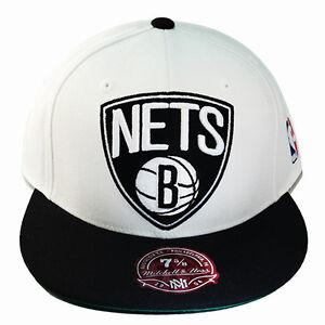 72ba2d467584a La imagen se está cargando Mitchell-amp-Ness-Gorro-Ajustada-Nba-Brooklyn- Nets-