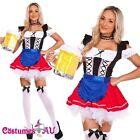 Ladies Oktoberfest Beer Maid Wench Costume Gretchen German Fancy Dress Halloween
