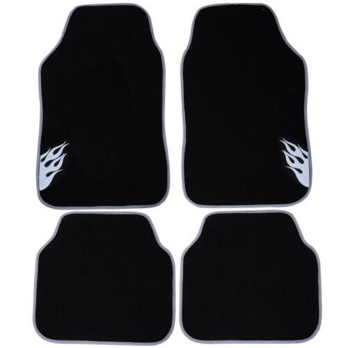 Auto Fußmatten Autoteppich Textil Matten 4-teilig Set Universal Grau 7124