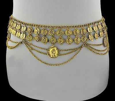 BOHO TRIBAL BOHEMIAN GYPSY BELLY DANCE CHAIN SHIMMY METAL BELT HIPPY TURKISH