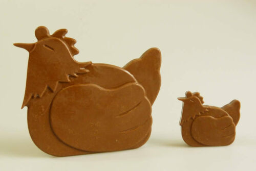 Chicken Hen Farm Animal Chocolate Candy Silicone Mould Cake Resin Wax Soap Craft