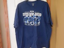 Reebok Super Bowl Bound 2010 Indianapolis Colts NFL Football T-Shirt pre-owned