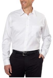 Kirkland-Signature-Men-039-s-Tailored-Fit-Dress-Shirt-White-Size-16-38-39