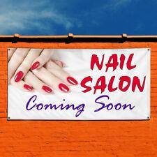 Vinyl Banner Sign Nail Salon Coming Soon Business Marketing Advertising White