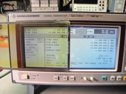 SMP SMT CMD Rohde/&Schwarz Displayglas NACHBAU für SMIQ