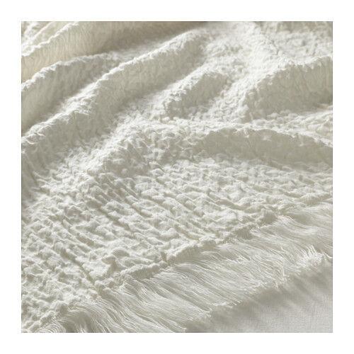 IKEA Mathea White Throw Blanket Bedspread 40 X 40 Soft Cotton Blend Mesmerizing Ikea Fleece Throw Blanket