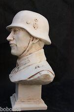 Buste Soldat Allemand-WW2-(Finition blanc cassé)(Fabrication Française)