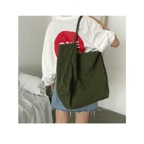 Large Capacity Women Lady Canvas Tote Shoulder Bags Durable Eco Shopping Handbag