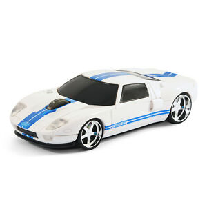 road mice ford gt40 gt voiture souris d 39 ordinateur sans fil blanc ebay. Black Bedroom Furniture Sets. Home Design Ideas