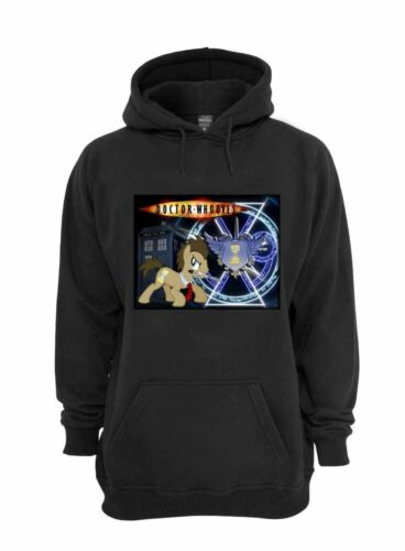 L@@K! Dr Whooves Sweatshirt - Black - YOUTH and ADULT - MLP Friendship is Magic