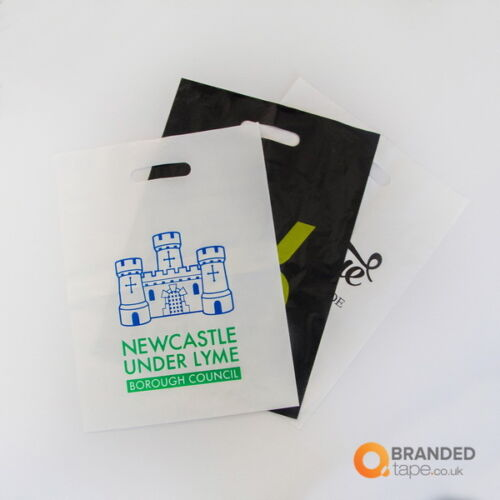 PERSONALISED CARRIER BAGS CUSTOM PRINTED PLASTIC BAGS  POLYTHENE SHOP with LOGO
