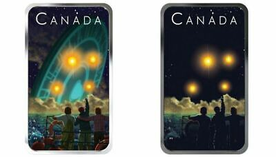 Canada 2019 20$ Shag Harbour UFO Incident #2 Glow Dark 1oz Silver Coin IN STOCK