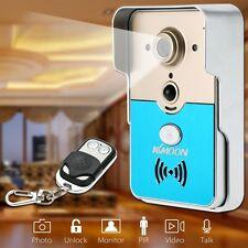 KKmmon Doorbell Wifi Video Door Phone Doorbell Wireless Intercom Enabled Video D