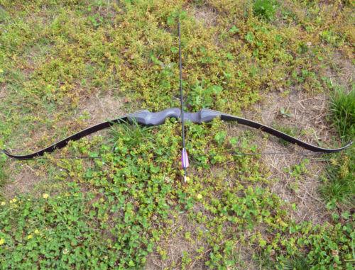 "60/"" Recurve Bow Takedown 30-60lbs Longbow RH Hunting Bamboo Core Limbs Archery"