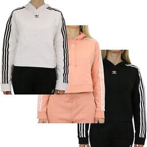 Details zu Adidas Originals Cropped Hoodie kurzer Schnitt Kapuzenpulli Pullover Damen