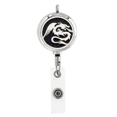 30mm ID Badge Scroll Holder Card Retractable Aromatherapy Diffuser Pendant