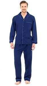 rivenditore di vendita b9ff3 e6f57 Dettagli su Da Uomo Lungo Pigiama Tradizionale Classico 2 PEZZI SET  OSPEDALE Top + Bottoms Nightwear- mostra il titolo originale