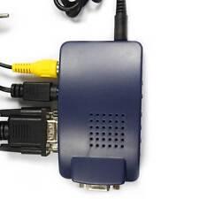 Durable PC VGA to AV TV RCA Composite RCA S-Video Converter Box Adapter US Ship