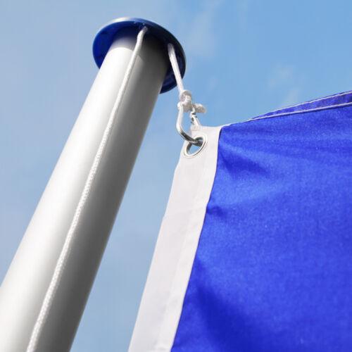 Mât de drapeau en aluminium alu 625 cm drapeau inclus kit jardin drapeaux blason