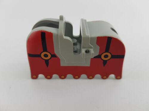 Lego® Ritter Pferdedecke Satteldecke Horse Barding 2490 rot grau
