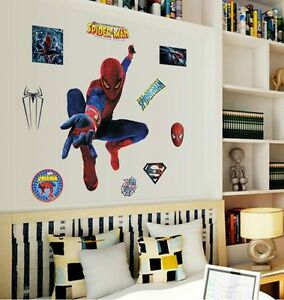 LARGE-SPIDERMAN-WALL-ART-MURUAL-STICKER-BOYS-BEDROOM-AND-PLAYROOM