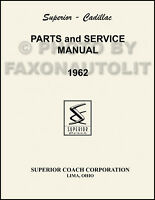 1962 Cadillac Superior Parts Book Hearse Ambulance Flower Car Illustrated