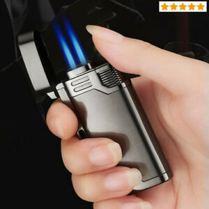 Gas-Cigar-Lighter-Jet-Butane-Blue-Fire-Cigarette-Lighter-Windproof-Lighters