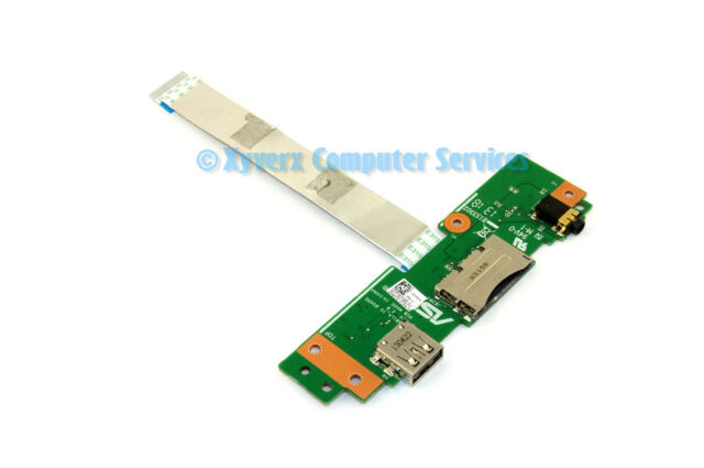 "Asus Q501L 15.6/"" Genuine Laptop USB Audio SD Card Reader Board 69N0PXB10C00"
