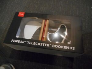 NEW Genuine Fender Telecaster Book Ends - WHITE, #912-4785-000