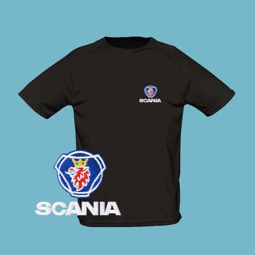 Scania T Shirt EMBROIDERED Auto Car Logo Tee Trucker Lorry Mens Clothing Gift