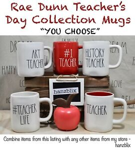 Rae-Dunn-Mug-Teacher-Collection-TEACHER-LIFE-HISTORY-MATH-034-039-YOU-CHOOSE-034-NEW-039-20
