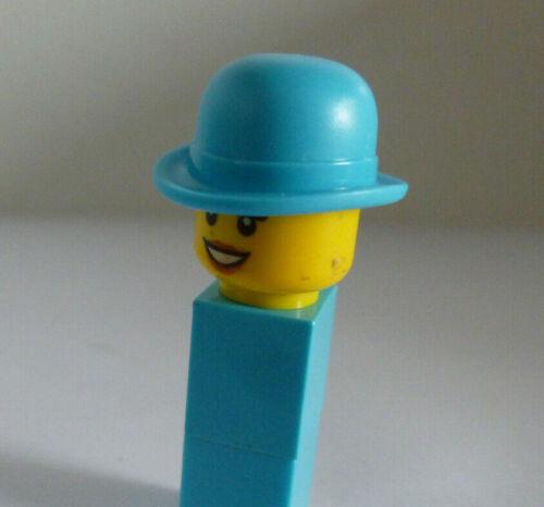 1 x LEGO® 95674 Hut Melone für Minifiguren Mädchen,Frau,Dame türkis Neuware