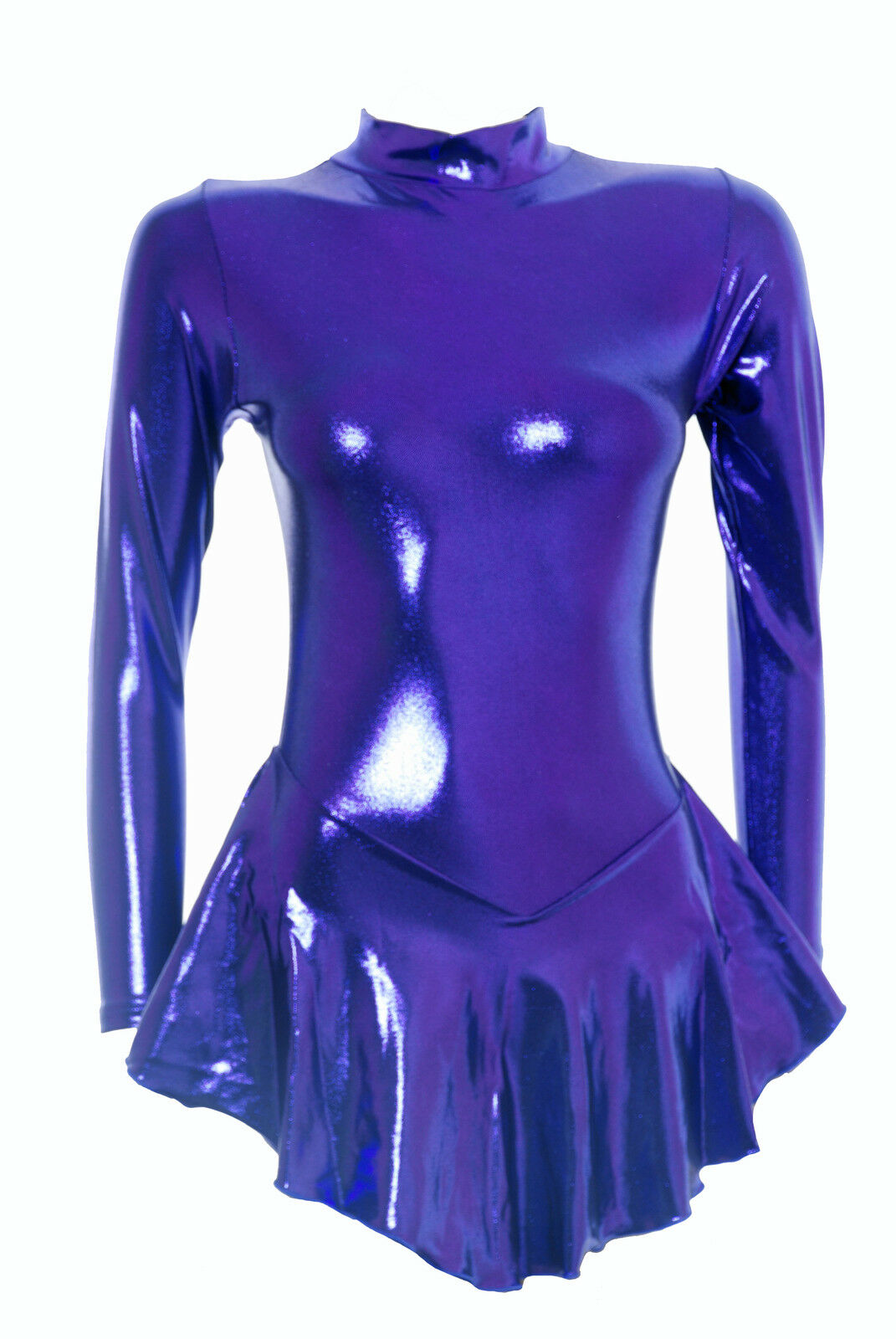 Skating Dress - PURPLE SHEEN METALIC -   ALL SIZES AVAILABLE - (S107)  customers first