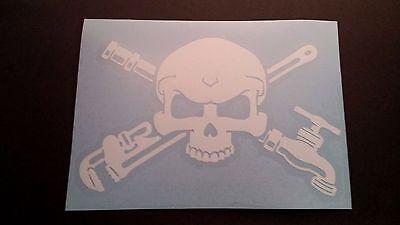 Plumber Skull W Tools Vinyl Sticker Decal For Window Ebay
