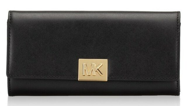 d3efecd13784 NWT Michael Kors Mindy Carryall Leather Purse Wallet in Black 35H8ATZE3L  $178
