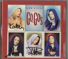The Go Go's (Belinda Carlisle) SIGNED CD by ALL 5 God Bless The Go Go's