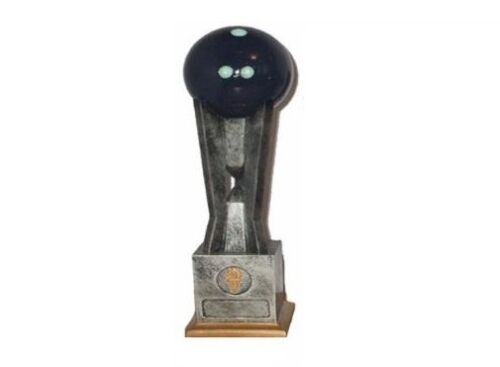 "RRP £14.95 11/"" 3D Ten Pin Bowling Trophy engraved and postage free"