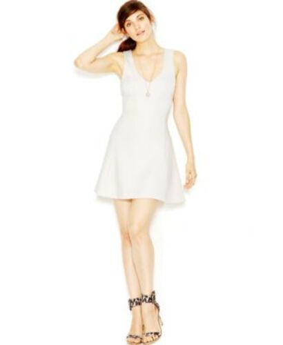 99ef549ef87 GUESS Dress Crochet Bordeaux Sleeveless V Neck Pointelle Seashell White XS  for sale online