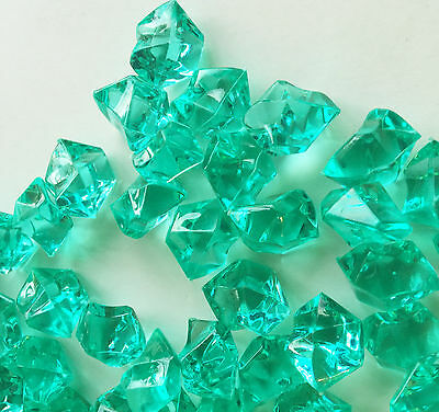 Crystal Acrylic Ice Rock Vase Gems or Table Scatters 8 Lb Medium 2.5cm, Clear