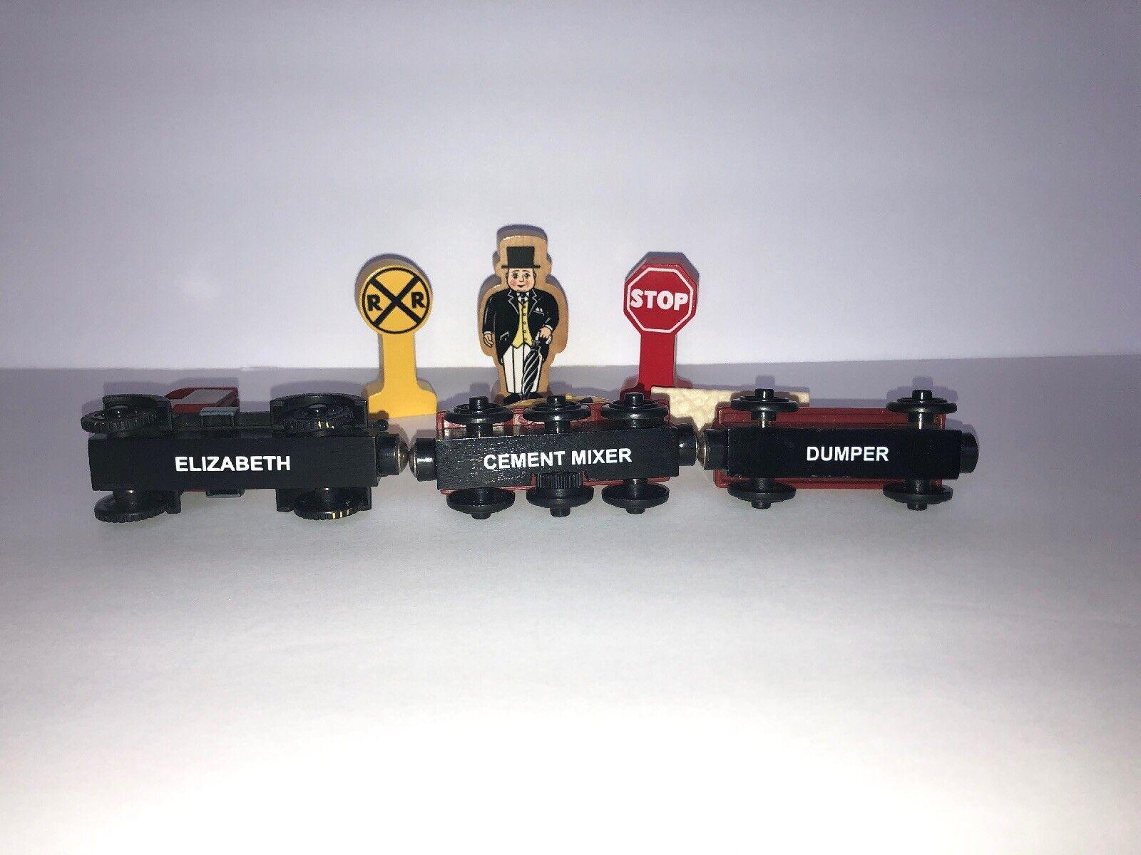 Thomas and Friends 8 pc Lot Elizabeth, Cement Mixer, Mixer, Mixer, Dumper, RR, Stop Wood Train 0a9191