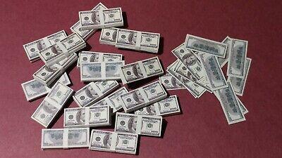 GI Joe Barbie! $100 bills 1//6 scale Bag-o-Money miniature toy money