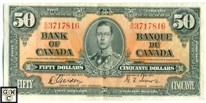 1937-Bank-of-Canada-50-Bank-Note-B-H-3717816-BC-26b-EF-OOAK